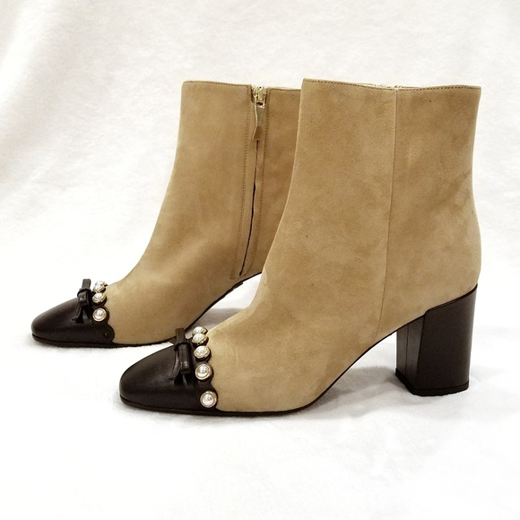 a8f2deb0f863 NEW Kate Spade Suede Orton Ankle Boots Sz 7